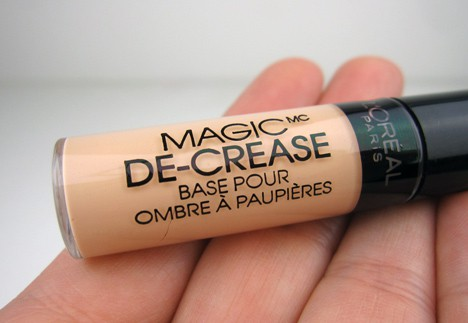LOrealdecrease2 LOreal Magic De Crease Eyelid Primer   swatches and review