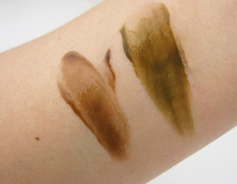 Bare Minerals Faux Tan swatches