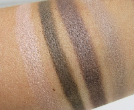BareMinerals Power Neutrals eye shadow swatches