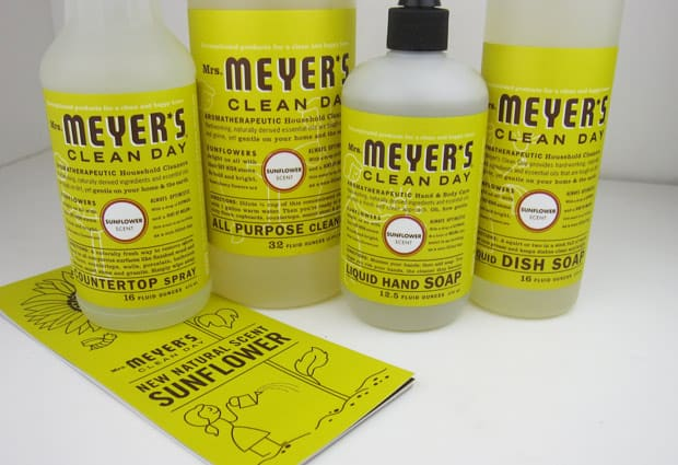 Mrs Meyers Sunflower 1 Mrs. Meyers Sunflower Products Review
