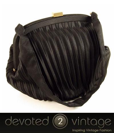 Vintage 1950s satin evening bag