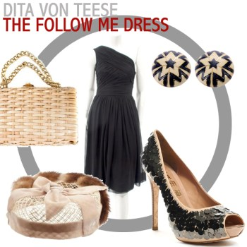 Vintage Lookbook: Dita Von Teese's Follow Me Dress