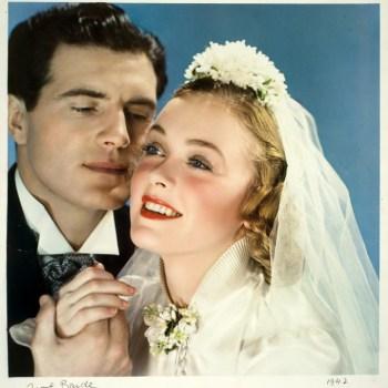 1940s bridal fashion photo from McCall Magazine
