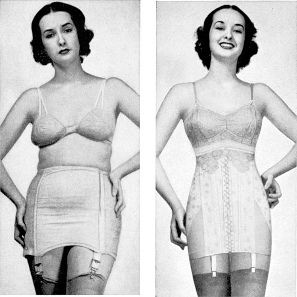 1940s lingerie, the Spencer corset