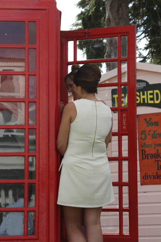 Cash machines as red telephone boxes at Goodwood Revival 2012