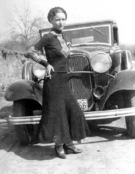 Bonnie Parker of Bonnie and Clyde