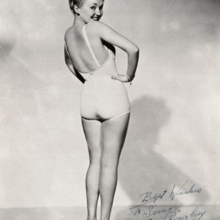 Betty Grable's famous WWII pinup