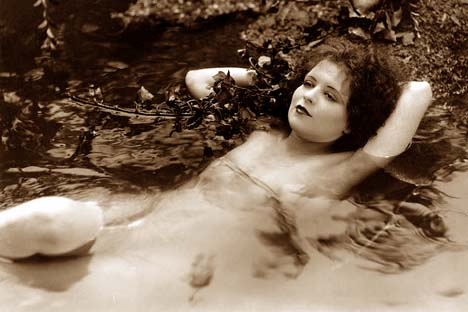 Clara Bow swimming naked