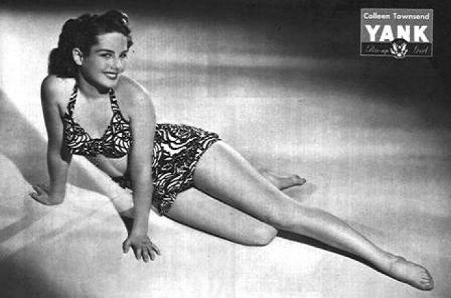 Colleen Townsend WWII pin up for YANK Magazine