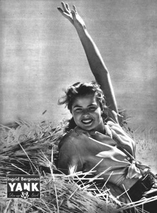 Ingrid Bergman WWII pin up for YANK Magazine