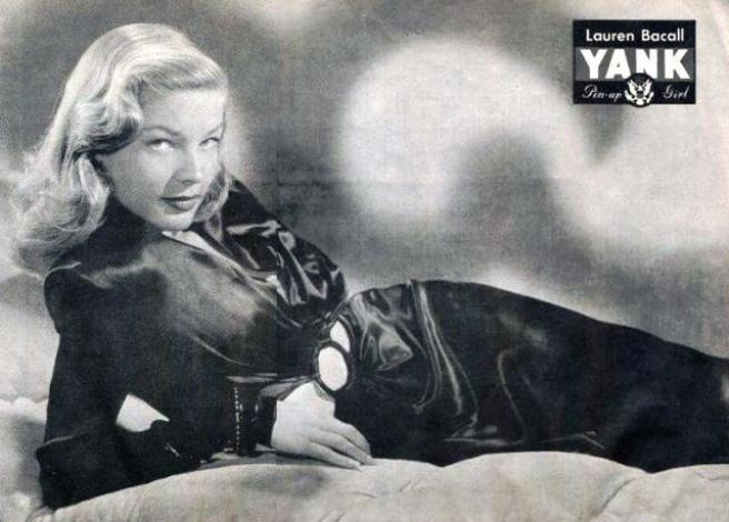 Lauren Bacall WWII pin up for YANK Magazine