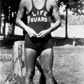 Ronald Reagan as a lifeguard, 1920s
