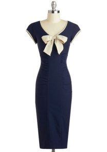 Sheath a Lady Dress in Navy by Stop Staring