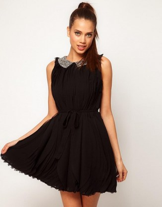 ASOS Swing Dress With Embellished Collar