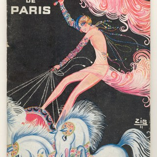 1930s French advert: bareback riding in a Casino…?
