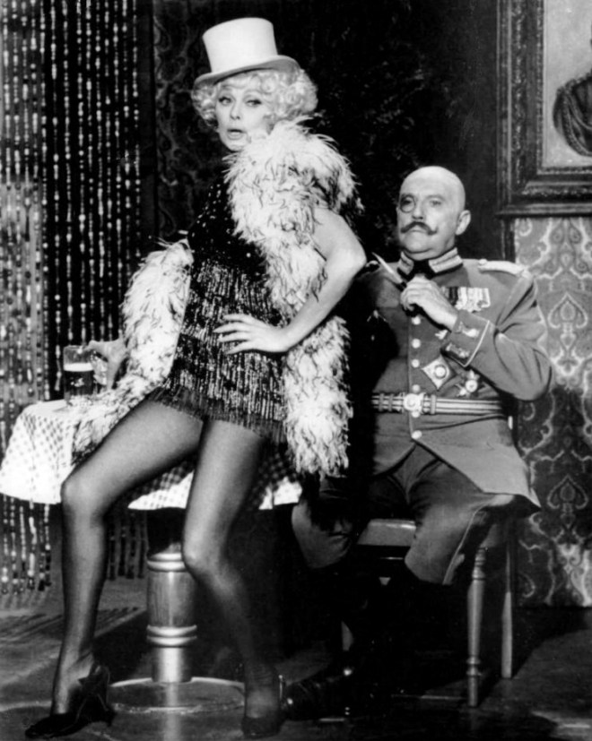 Lucille Ball as Marlene Dietrich