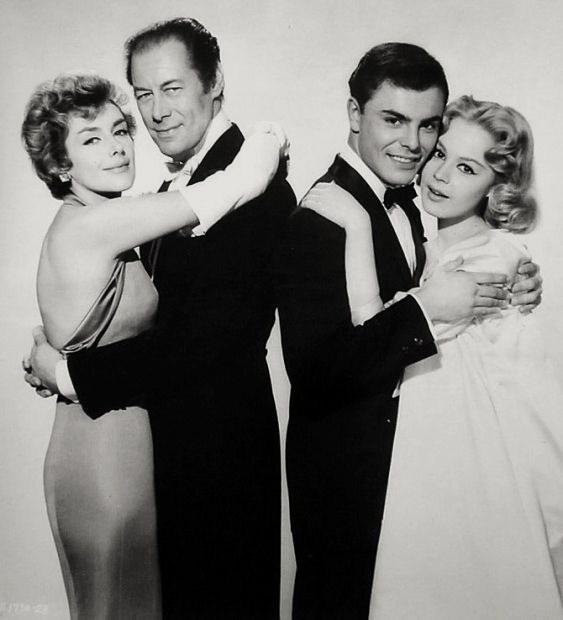 Kay Kendall, Rex Harrison, John Saxon,  Sandra Dee