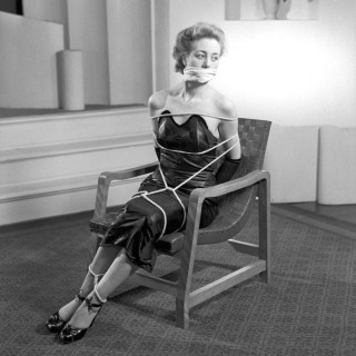 Vintage fashion meets bondage in the 1940s