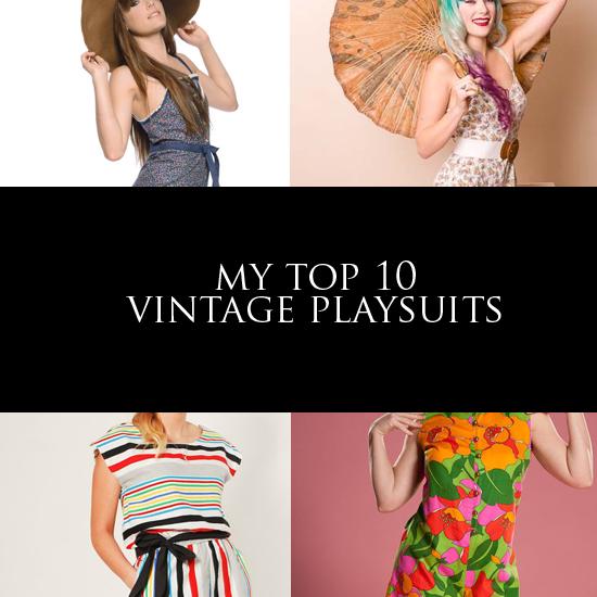 My top 10 vintage playsuits