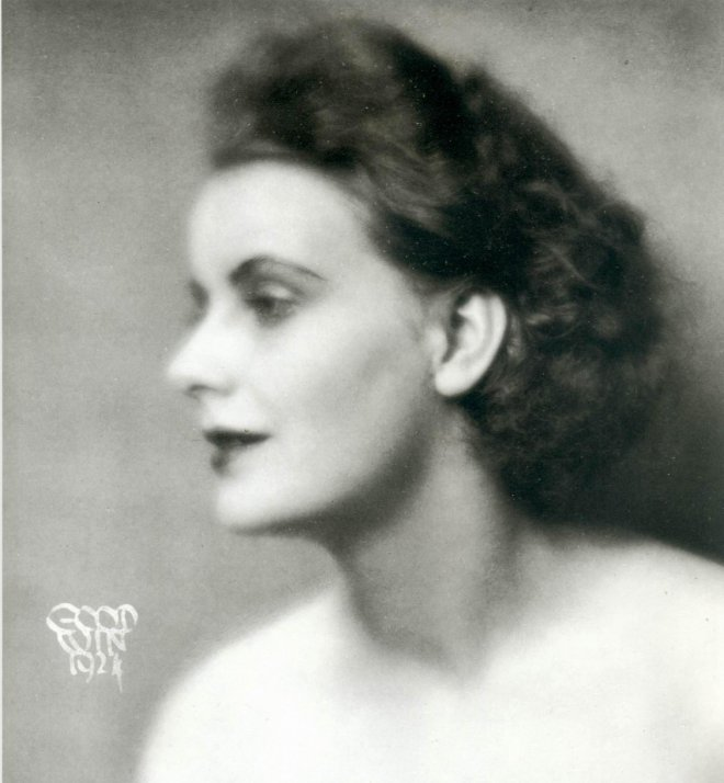 Greta Garbo before she lost weight and got her teeth fixed