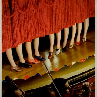 1940s shoes on a chorus line of 1 legged women