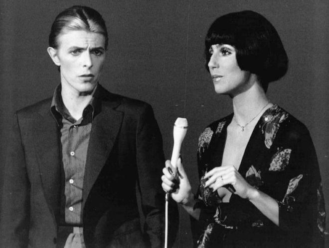 David Bowie and Cher 1970s