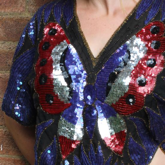 Vintage 1980s sequin top