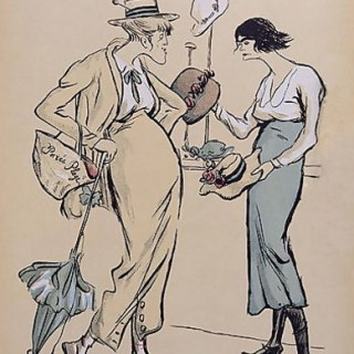 Rather cruel caricature of Coco Chanel from 1919
