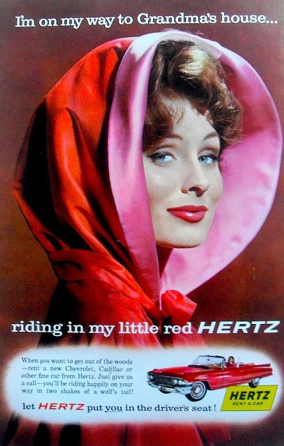 Suzy Parker as Little Red Riding Hood