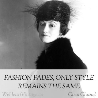 Quotes: Coco Chanel on style vs fashion