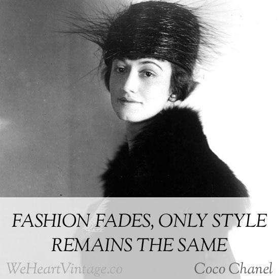 Quotes: Coco Chanel on style
