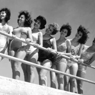 Windswept 1960s beauty contestants