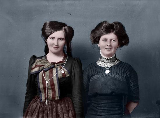 Colorized vintage photo