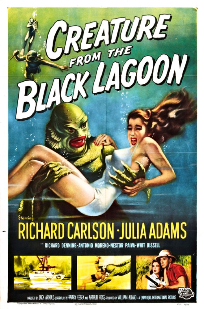 Vintage movie poster, Creature from the black lagoon