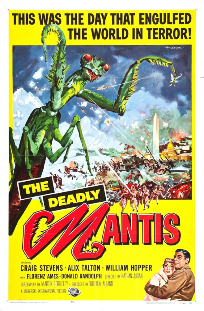 Vintage movie poster: Deadly Mantis