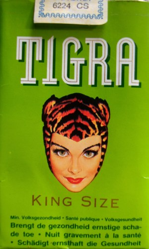 Tigra Girl - Tigra Cigarette Packet