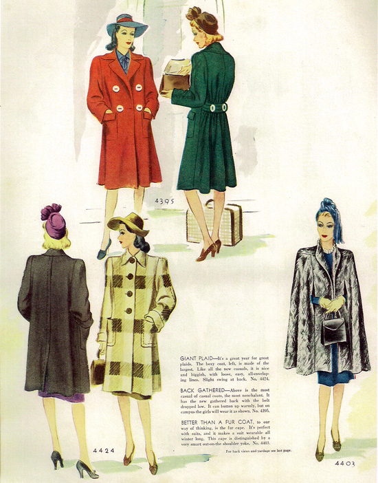 1940s fashion illustrations