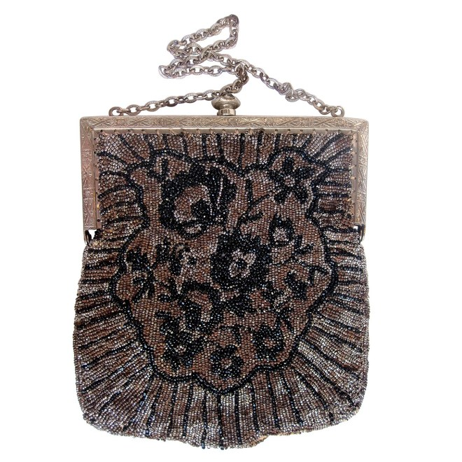 1920s Floral Beaded Bag
