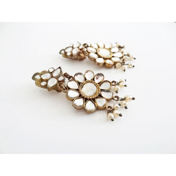 'Mirrors' vintage earrings