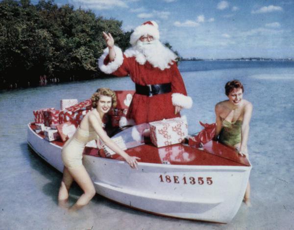 Vintage Santa and his Lovely Ladies...