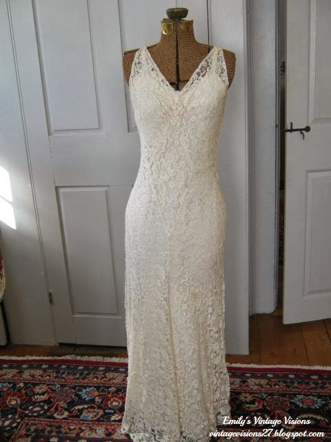 1930s bias cut evening/wedding gown (Not currently for sale)