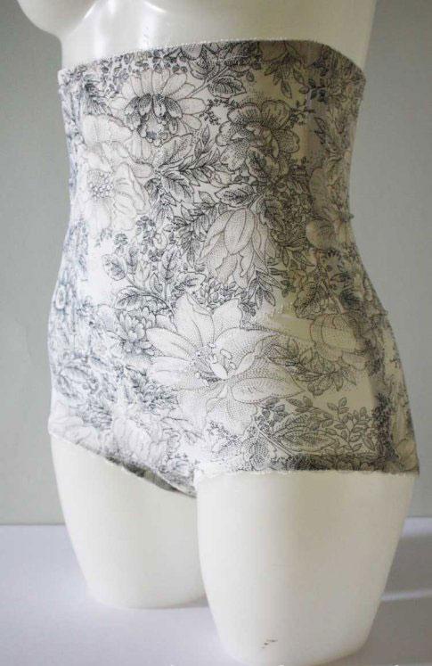 1960s Boned Longline Floral Panty Girdle