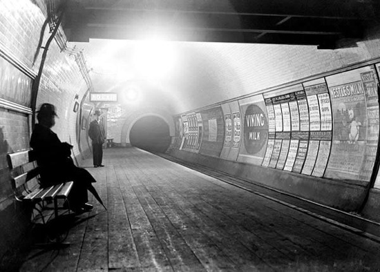 Vintage London Underground Tube Photo