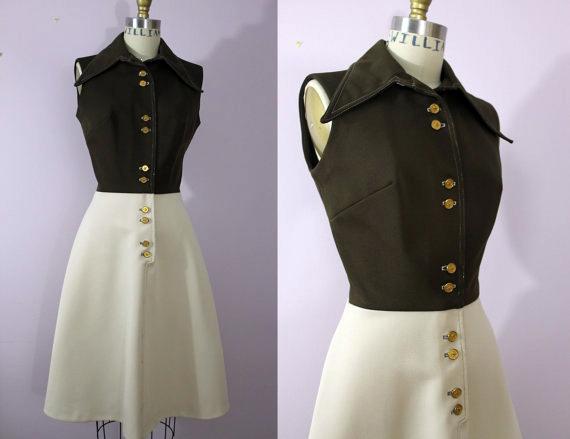 1970s A Line Dress