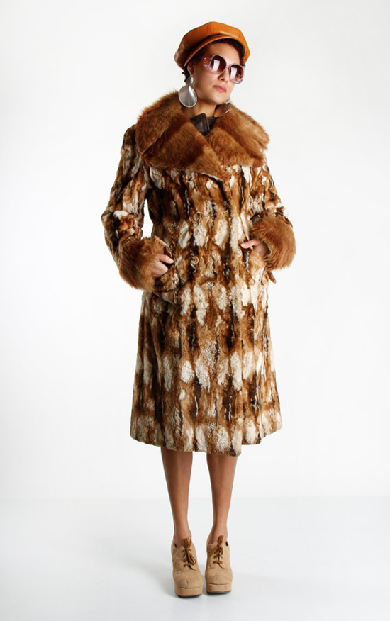 1970s Faux Fur Winter Jacket