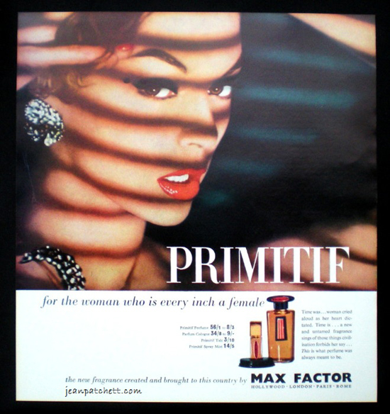 Promitif by Max Factor perfume advert 1960s
