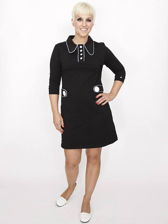 1960s Natalie Dress with white buttons