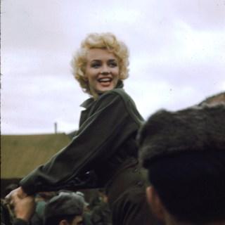 Photos of Marilyn Monroe on her USO tour in Korea, 1954