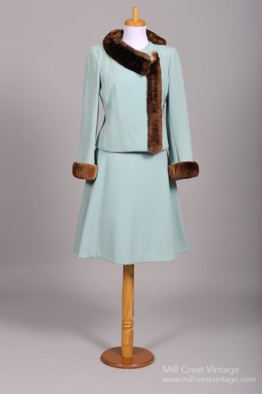 1960 Gabardine Vintage Dress and Coat