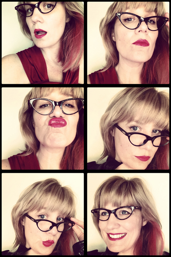Looking Specsy in Vintage Glasses